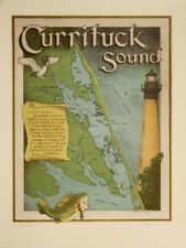 """""""Currituck Sound"""" Map 9""""x 12"""" archival print of original serigrahph by G Roberts"""