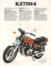Kawasaki US sales brochure KZ750 Z750 1980
