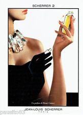 PUBLICITE ADVERTISING 116  1988  Jean-Louis Scherrer  2 parfum haute couture