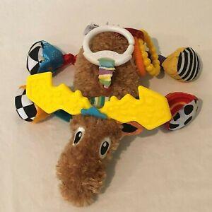 Lamaze Moose Developmental Plush Toy for Crib Stroller Activity Gym Car Seat