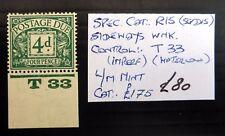 GB 1924 Postage Due 4d As Described NB4560