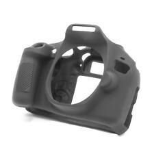 Cover Case Alloggiamento silicone nero per Canon EOS 1300D, EOS 2000D