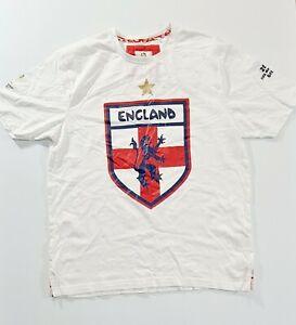 ENGLAND FIFA World Cup 2014 Brazil White T Shirt Size Medium
