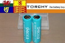 2x 30A ShockLi (Samsung 30Q) 3000mAh 18650 3.7v Li-ion batteries+protective case