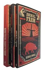 George Orwell 3 Books 1984 Animal Farm Down and Out in Paris and London New