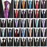 Classic Men's Stripe Paisley Floral Necktie JACQUARD WOVEN Polyester Silk Tie