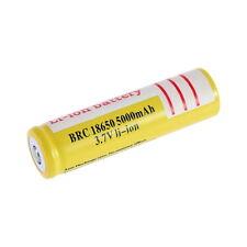 18650 3.7V 5000mAh Li-ion Rechargeable Li-ion Battery for Led Flashlight #~