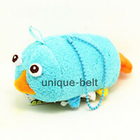 """3.5"""" New Perry in Phineas and Ferb Platypus Tsum Tsum plush Toy Doll Screen Wipe"""