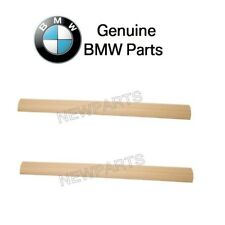 BMW E39 525i 528i Pair Set of Front Left and Right Door Sill Plate Strips Beige