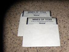"Mines of Titan IBM PC Tandy 5.25"" disk"