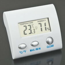 LCD Digital Thermometer Hygrometer Humidity Temperature Meter Indoor Home OV