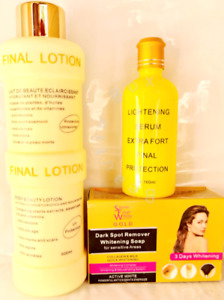 Final White Body Lightening Lotion, Serum And Soap