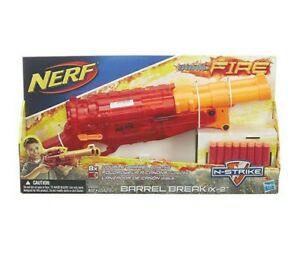 NERF Sonic Fire BARREL BREAK IX-2 Double Shotgun Blaster Red
