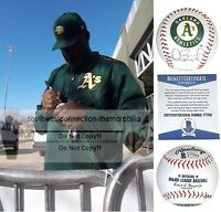 Dave Stewart Oakland Athletics Autograph Signed A's Baseball Proof Beckett BAS