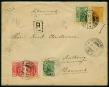 Finland 1892 regis. 20p envelope/5p (x2) & 10p pair