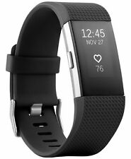 Fitbit Charge 2 Heart Rate + Fitness Wristband, Black, Large - Grade A