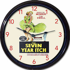 """Marilyn Monroe Seven Year Itch Classic Movie Poster Wall Clock Tom Ewell New 10"""""""