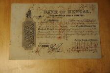 """4. INDIA, BANK OF BENGAL, 1864, 1000Rs PER SHARE, """"B"""" STOCK"""