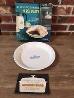 "Vintage Corning Ware P-309 Blue Cornflower 9"" Pie Plate Original Box Excellent"