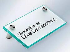 Floatglas Tischaufsteller Namensschild Werbeaufsteller Preistafel Büroschild