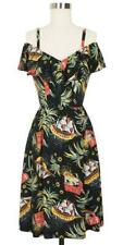 Trashy Diva 2 XS Hollywood Dress Pirate Treasure 1940s Novelty Tropical Print
