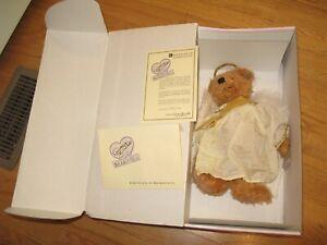 "new Annette FUNICELLO Bear Co Gabriel ANGEL 13"" Plush Teddy BOX w/COA"