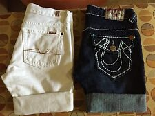 True Religion Size27& 7 All Mankind Size 28