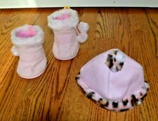 Build A Bear Suede Boots & Matching Hat