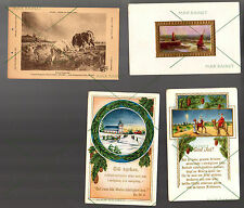 10 POSTCARD Antique Vintage Foreign Travel France Spain Belgium Holiday 1c stamp