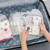 Protable Lucency Frosted Travel Clothes Drawstring Bag SP Storage Bag Waterproof