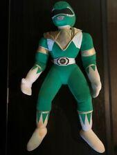 """Kid Dimension VTG 1994 Power Ranger Plush Green w gold vest 17"""" MINT"""