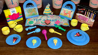 Vintage 1980's My Little Pony Birthday Party 27Pc Hat Blowers Plates Pin Tail On