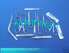 SET OF 42 BASIC EAR SET SURGERY INSTRUMENTS FORCEPS ENT MEDICAL BRAND NEW DS-819