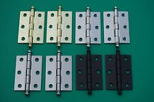 "4 FINISHES BUTT HINGES 1 3/4"" W X 2 7/16"" H BALL TIPS WITH REMOVABLE PINS STEEL"