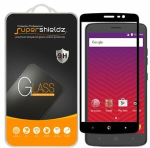 2x Supershieldz Full Cover Tempered Glass Screen Protector for ZTE Max Blue LTE