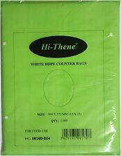 "1000 HDPE Food Grade Counter Bags 8 mu Hi-Thene 8X10"" EXCELLENT QUALITY"