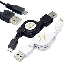 Sync Charger Cord Great Micro USB A to USB 2.0 B Male Retractable Cable Data