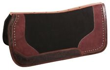 BROWN BARREL RACING WESTERN HORSE TACK NON SLIP SADDLE PADS WOOL FELT PRO FIT