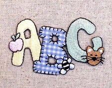 ABC Apple/Bee/Kitty Cat Gingham/Baby/Letters Iron on Applique/Embroidered Patch