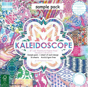 DOVECRAFT KALEIDOSCOPE 8 X 8 SAMPLE PACK - 16 SHEETS - POSTAGE DEAL