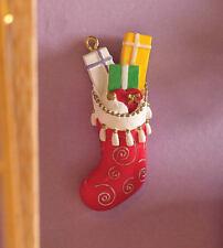Mum's Filled Christmas Stocking, Dolls House Xmas Decoration, 1.12 Scale