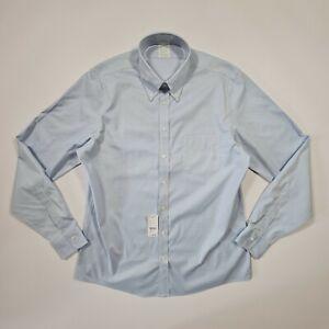 Brooks Brothers Men's Blue Non-Iron Long Sleeves Slim Fit Shirt Medium/ Large