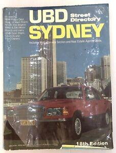 UBD Sydney Vintage Street Directory 18th Edition 1981