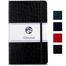 Journal   Notebook A5 - Crocodile Textured Hardcover, Premium Paper - Black