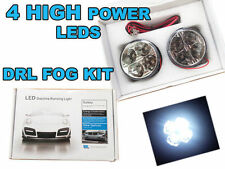 2x 70MM rond drl 4 led daytime running lights front spot/fog lights 6k blanc