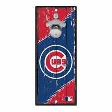 MLB Chicago Cubs Baseball Bottle Opener Wood Sign Holzschild Holz Wandschmuck