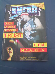 Enfer Magazine 21 1985 METALLICA THE FIRM JIMMY PAGE UFO STOCKS LED ZEPPELIN