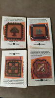4 VTG Mill Hill Quilt Magnet Kits - SAILBOAT, PINETREE, BASKET & OHIO STAR.