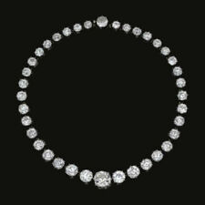 Old Cut Round Riviera Necklace Royal Solid 925 Sterling Silver Jewelry Wedding