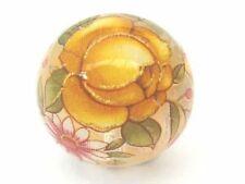 Dos Transparente Cristal con Flor de color amarillo ronda granos Tensha japonés - 14mm